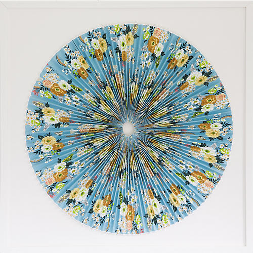 Dawn Wolfe, Blue Floral Pleated Circle