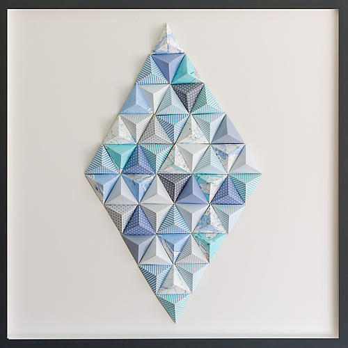 Dawn Wolfe, Martha's Vineyard Origami Map Collage