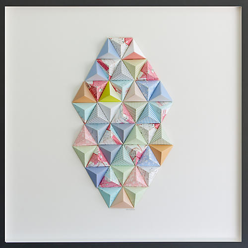 Dawn Wolfe, Los Angeles Origami Map Collage