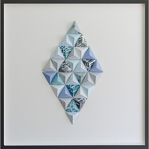 Dawn Wolfe, Manhattan Origami Map Collage