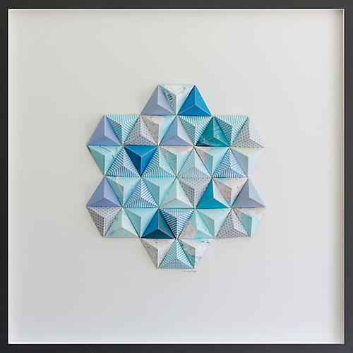 Dawn Wolfe, Nantucket Origami Map Collage