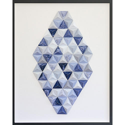 Dawn Wolfe, Montauk Origami Map Collage