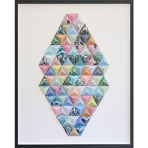 Dawn Wolfe, New York Origami Map Collage
