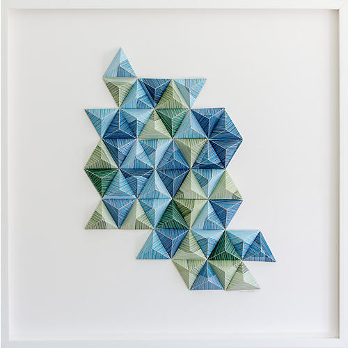 Dawn Wolfe, Striped Origami Collage I