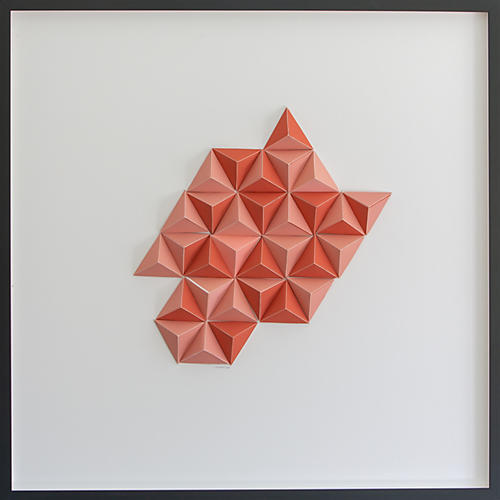 Dawn Wolfe, Salmon Abstract Origami Collage