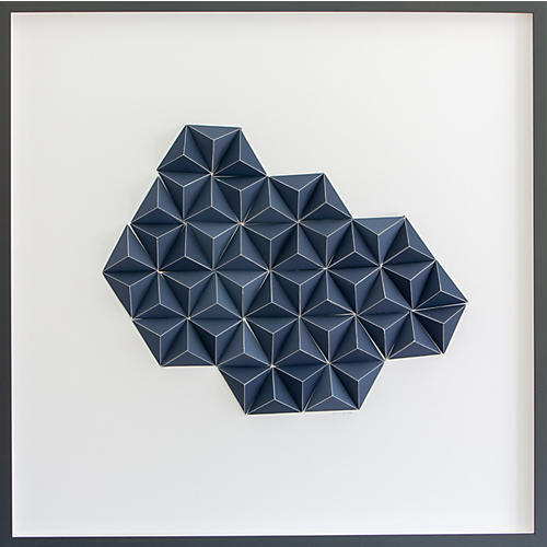 Dawn Wolfe, Light Gray Abstract Origami Collage