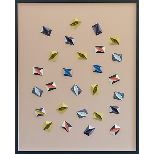 Dawn Wolfe, Confetti Color Origami Collage
