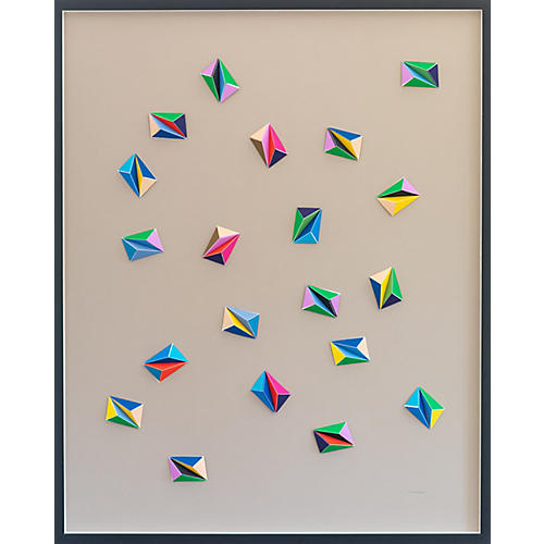 Dawn Wolfe, Jewel Confetti Color Origami Collage