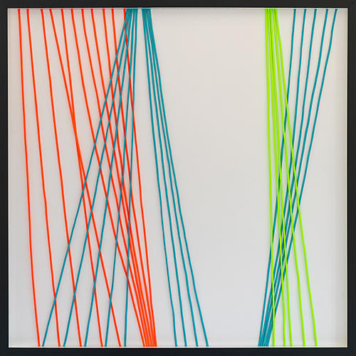 Dawn Wolfe, Wrapped Cord Abstract: Neon
