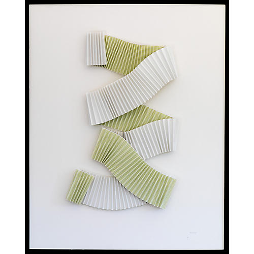 Dawn Wolfe, Pleated Celadon Abstract