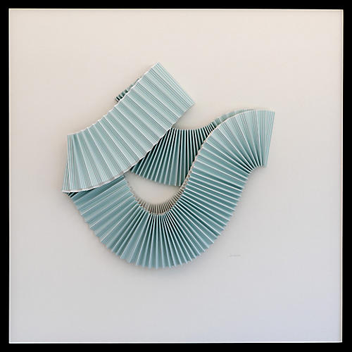 Dawn Wolfe, Pleated Blue Abstract