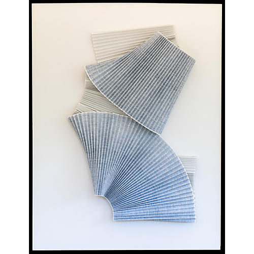 Dawn Wolfe, Pleated Gray Abstract