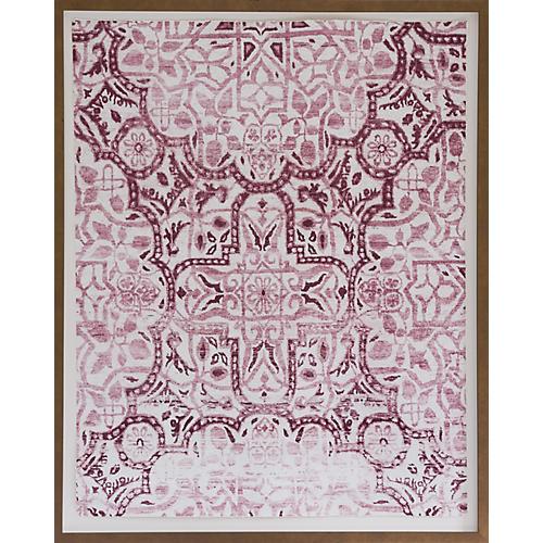 Dawn Wolfe, Pink Medallion Silk Rug