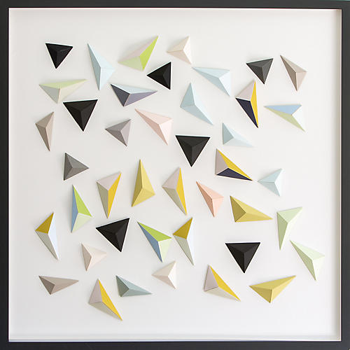 Dawn Wolfe, Origami Black/Pastel Triangles