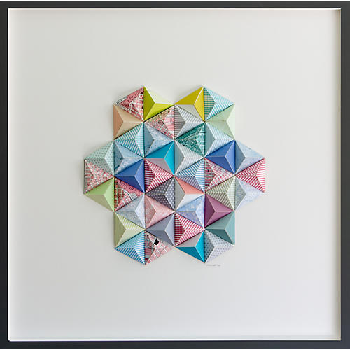 Dawn Wolfe, Palm Beach Origami Map Collage