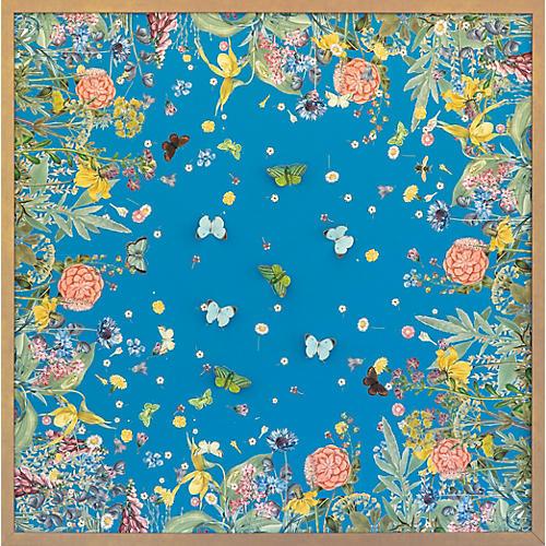 Dawn Wolfe, Turquoise Scarf w/ Butterflies