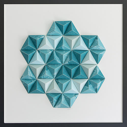 Dawn Wolfe, Cape Cod Origami Map Collage I