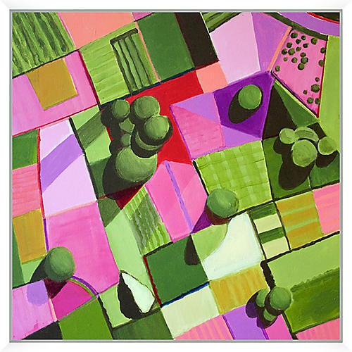 Toni Silber-Delerive, Pink & Green Fields