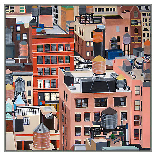 Toni Silber-Delerive, NYC Water Tanks
