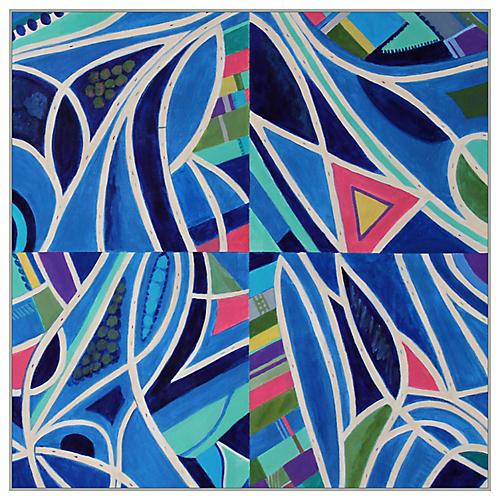Toni Silber-Delerive, Blue Quadriptych