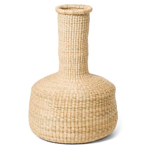 Zumari Floor Basket, Natural