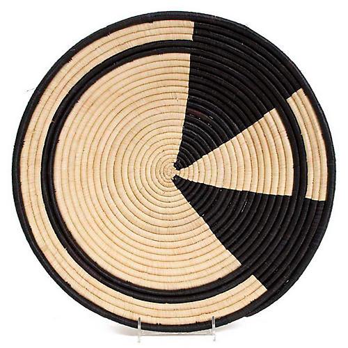 "16"" Juhudi Decorative Bowl, Black/Natural"