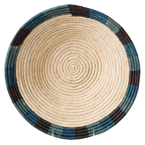 "12"" Chovya Decorative Bowl, Blue/Natural"