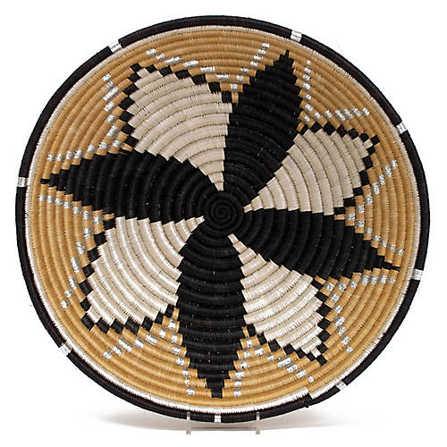 "14"" Kindu Decorative Bowl, Gold/Black"