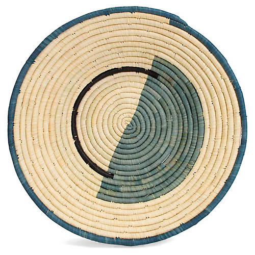 "14"" Nusu Decorative Bowl, Blue/Natural"