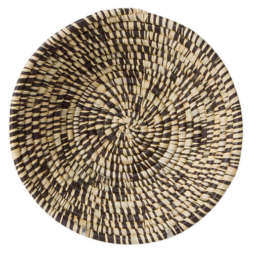 "6"" Nyasi Decorative Bowl, Black/Natural"