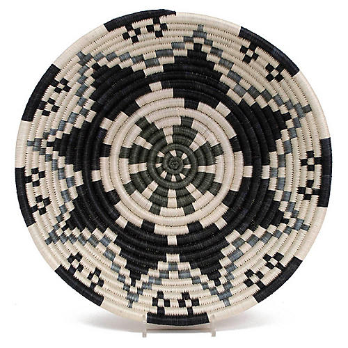 "12"" Guru Decorative Bowl, Gray/Multi"