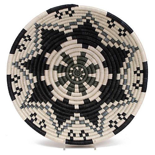 "12"" Guru Decorative Bowl, Gray/Multi"