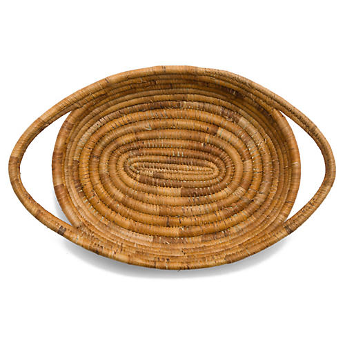 "13"" Upendo Oval Basket, Natural"