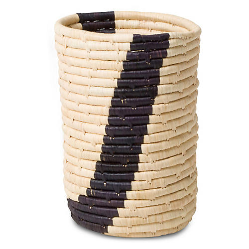"7"" Kigwe Decorative Cup, Black/Natural"
