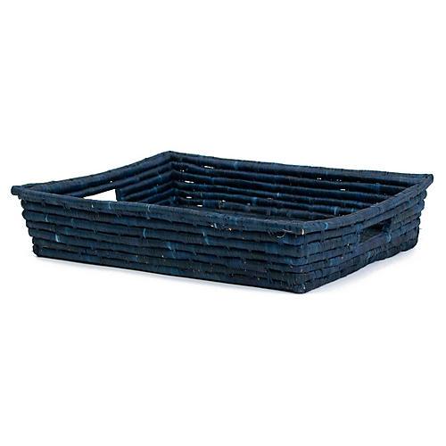 """12"""" Mwezi Decorative Tray, Blue Night"""