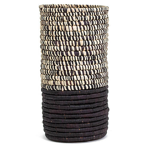 "9"" Jani Decorative Vase, Heathered Black"