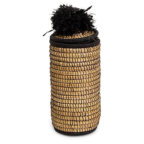 "11"" Mfale Pom-Pom Box, Black/Natural"