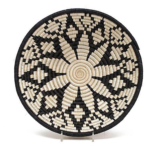 "10"" Maua Decorative Bowl, Black/Beige"