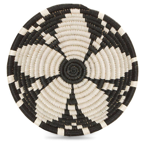"6"" Usiku Decorative Bowl, Black/White"