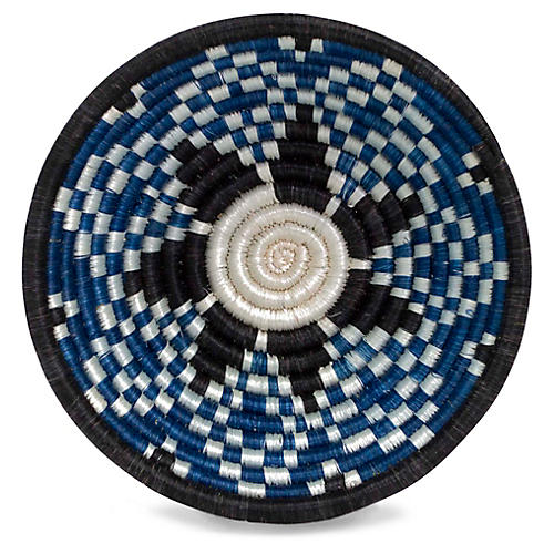 "6"" Bustani Decorative Bowl, Indigo/Black"