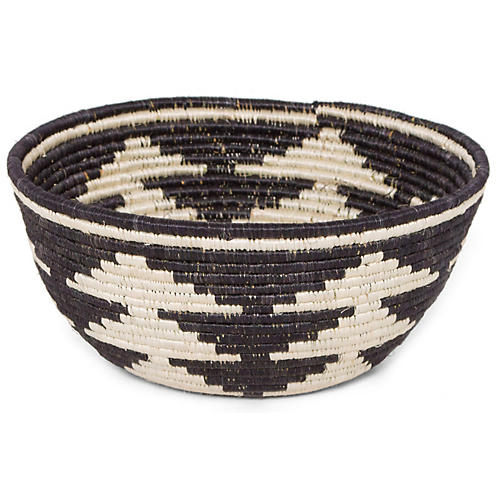 "8"" Sozi Catchall, Black/White"
