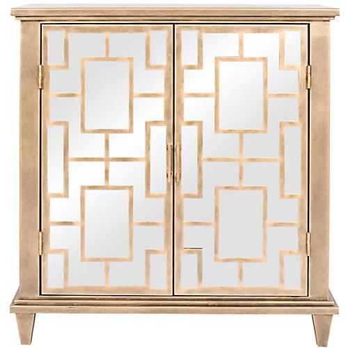 Cary Cabinet, French Brass
