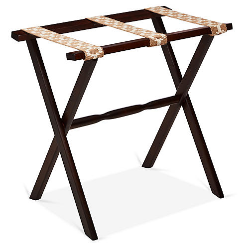 Sawyer Luggage Rack, Sisal/Walnut