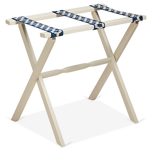 Sawyer Luggage Rack, Navy/Ivory