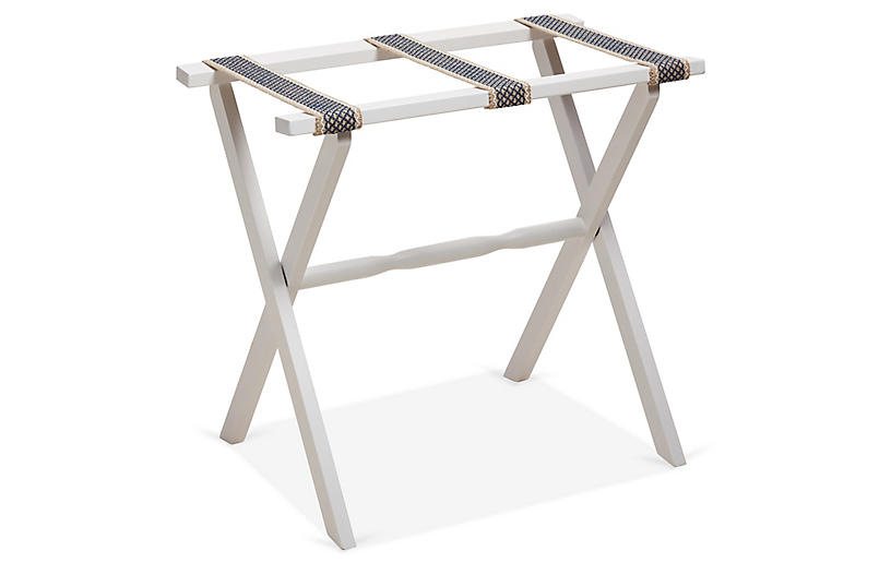 Parker Luggage Rack, Cadet Blue/White