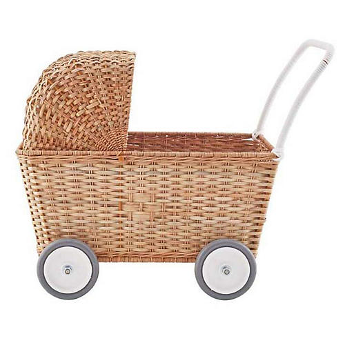 Strolley Kids' Handwoven Stroller, Natural