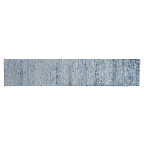 "2'6""x12'4"" Savannah Hand-Knotted Rug, Blue"