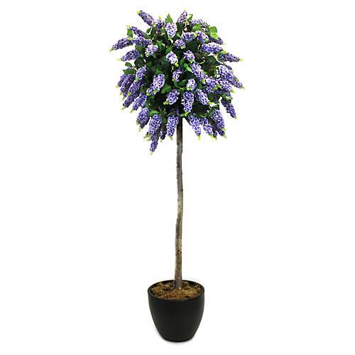 """74"""" Lilac Tree w/ Planter, Faux"""