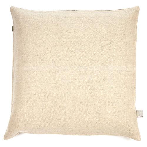Shetland Pillow Cover, Bone Linen