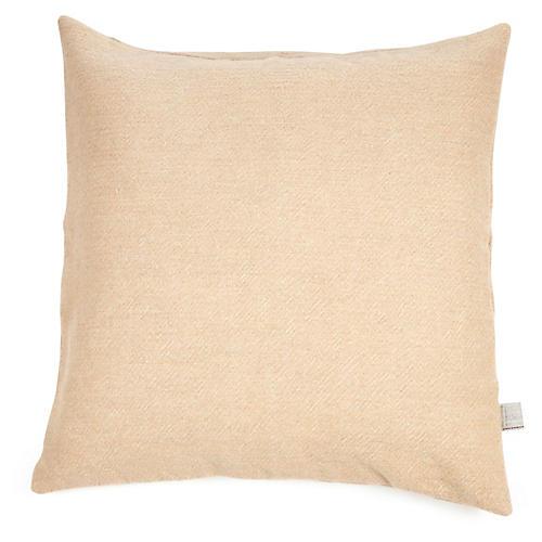 Shetland Pillow Cover, Camel Linen